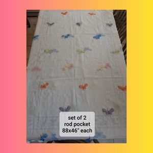 Other - Set of 2 butterfly curtains